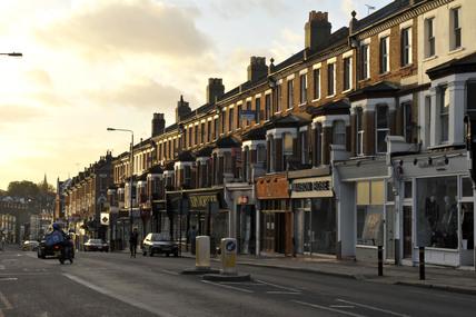 Shops on Battersea Rise; 2009