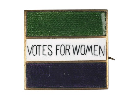 Square silver and enamel badge: c.1908