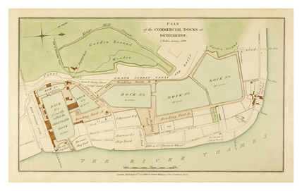 Plan of the Commercial Docks Rotherhithe: 1820
