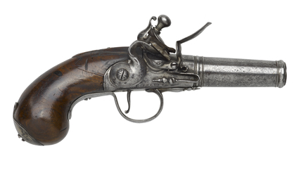 Flintlock pocket pistol: c.  1715