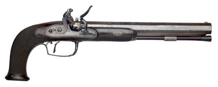 Flintlock duelling pistol: c.1815