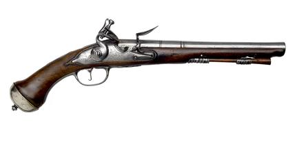 Flintlock holster pistol: c.1695