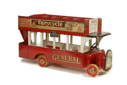 Wooden model of a bus; 1925