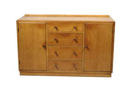 Wooden utility sideboard; 1946