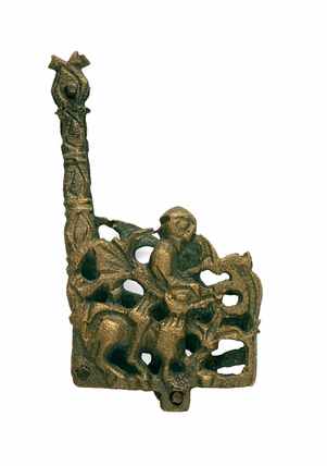 Bronze chape or mount: 12th century