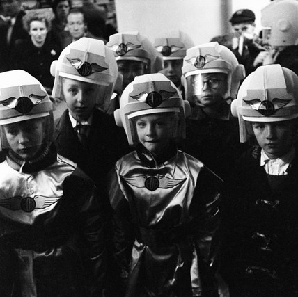 Fancy dress at the Schoolboys Own exhibition: 1959