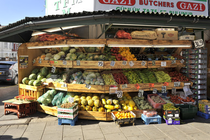 Fruit and vegetable shop in Green Lanes; 2009