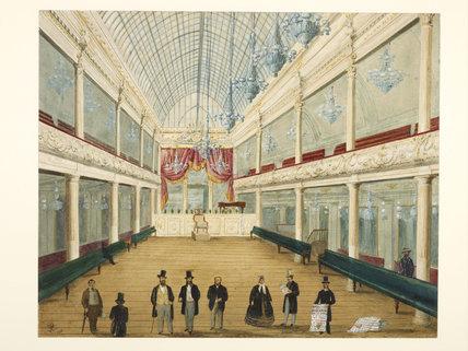 Interior of newly opened  London Pavilion Music Hall; 1861