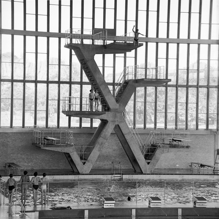 Diving boards at Crystal Palace: 1964