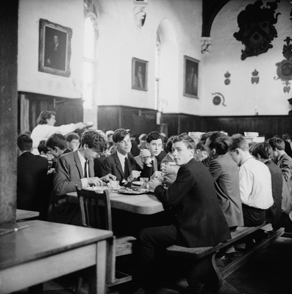 Dinner time at Westminster School: 1965