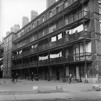 The Beaconsfield Buildings in Kings Cross: c.1960