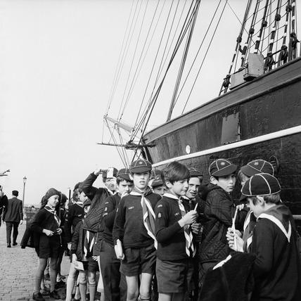 Boy scouts at the Cutty Sark: c.1970