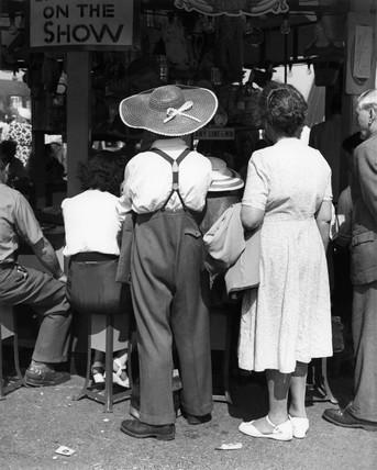 Spectators at Kursaal Funfair in Southend: 1948