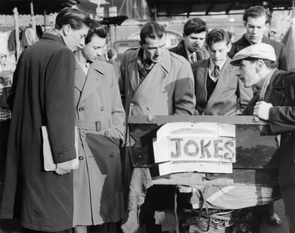 A trader at Romford Market: c.1947