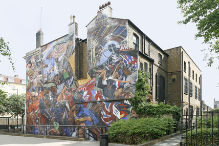 Cable street mural 2009 by mike seaborne at museum of london for Cable street mural