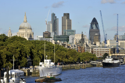 View of the of the City of London; 2010