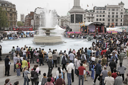 Music festival in Trafalgar Square; 2009