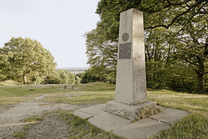 Obelisk on the top of Pole Hill; 2009