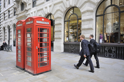 Red telephone boxes; 2010