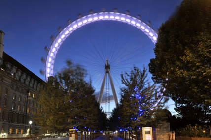 The London Eye at night; 2010