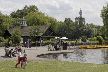 The boating lake in Regents Park; 2009