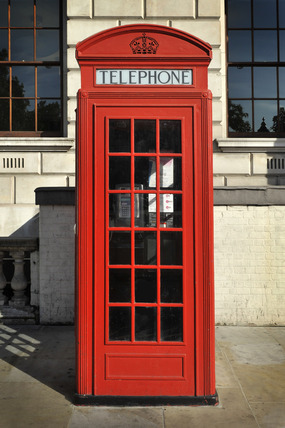 A red telephone box; 2010