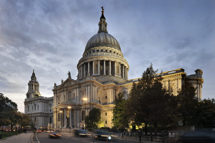 St. Paul's Cathedral at dusk; 2010