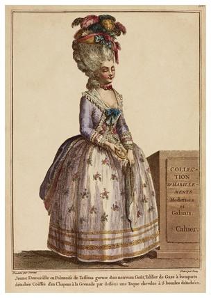 Jeune Desmoiselle en Polonoise de Taffetas garnie