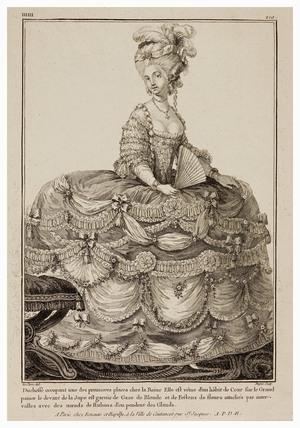 Duchess occupant une des premieres places chez la Reine: 1781