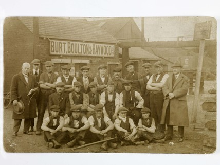 Staff from the Burt, Boulton and Haywood timber yard: c. 1850