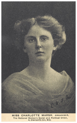 The Suffragette Organiser Charlotte Marsh: 1909