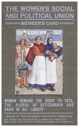 Membership card for the Women's Social and Political Union: 1906