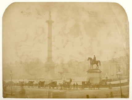 View of Trafalgar Square;  c.1857.