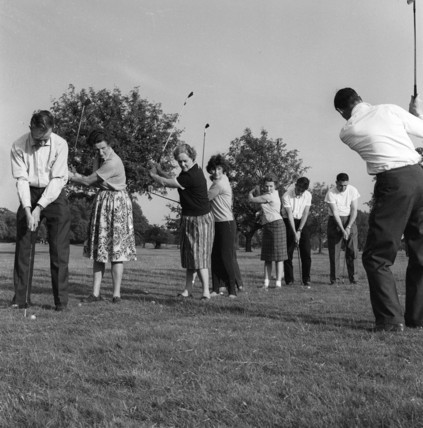 A golf lesson: c.1965