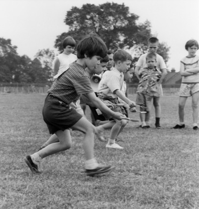 Childrens egg and spoon race: c.1965