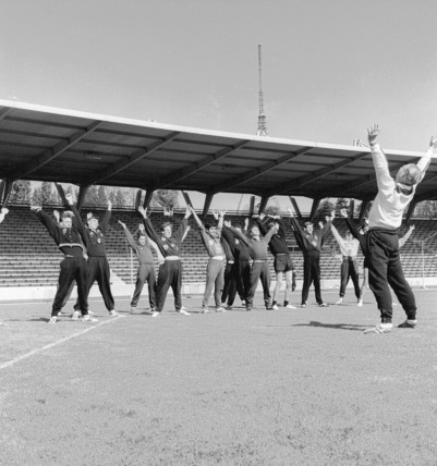 Athletes in training; 1964