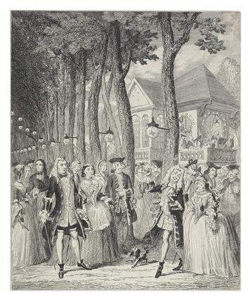 Mr Cripps encountering his Master in Mary-le-Bone Gardens: 1842