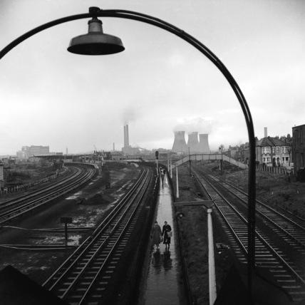 View above Willesden Junction railway lines; 1959