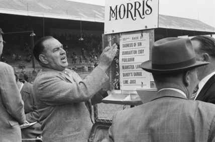Greyhound racing at Park Royal track; 1956