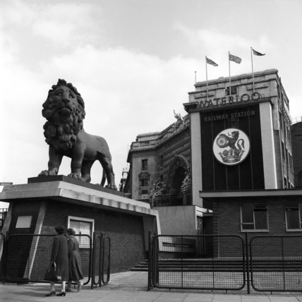Outside Waterloo Railway Station; 1957