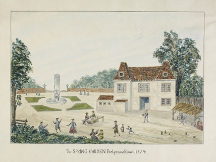 The Spring Garden, Belgrave Road: c.1774