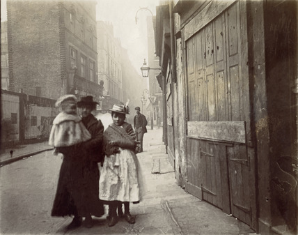 A small group in Drury Lane; 1899
