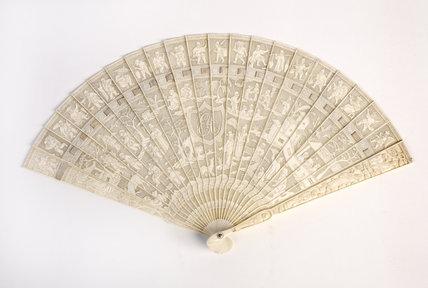 An ivory fan; 1790