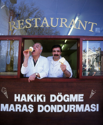 Turkish-Cypriot 'Trojan Restaurant' in Green Lanes, 1993