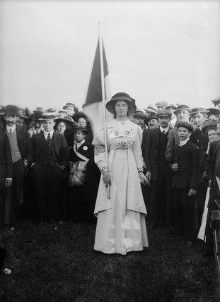 Suffragette banner bearer: c.1910