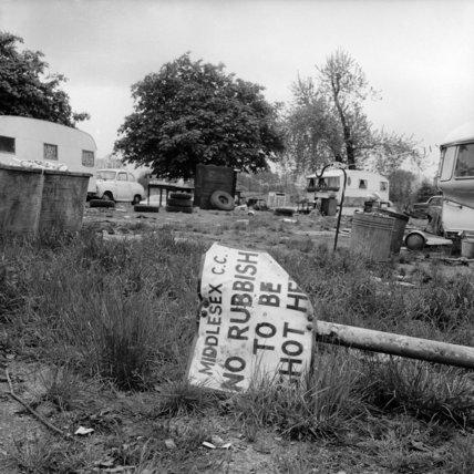 A caravan site along the North Circular Road; 1972