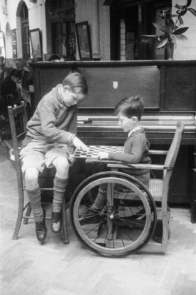 Two boys at the Franklyn D. Roosevelt School c.1955