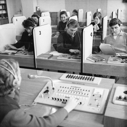 Languages study at Ealing Technical Collage; c.1970