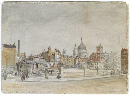 Queen Victoria Street looking east; 1852