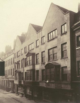 Barnard's Inn - Fetter Lane front 1879